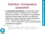 definition comparative proposition
