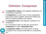 definition comparison