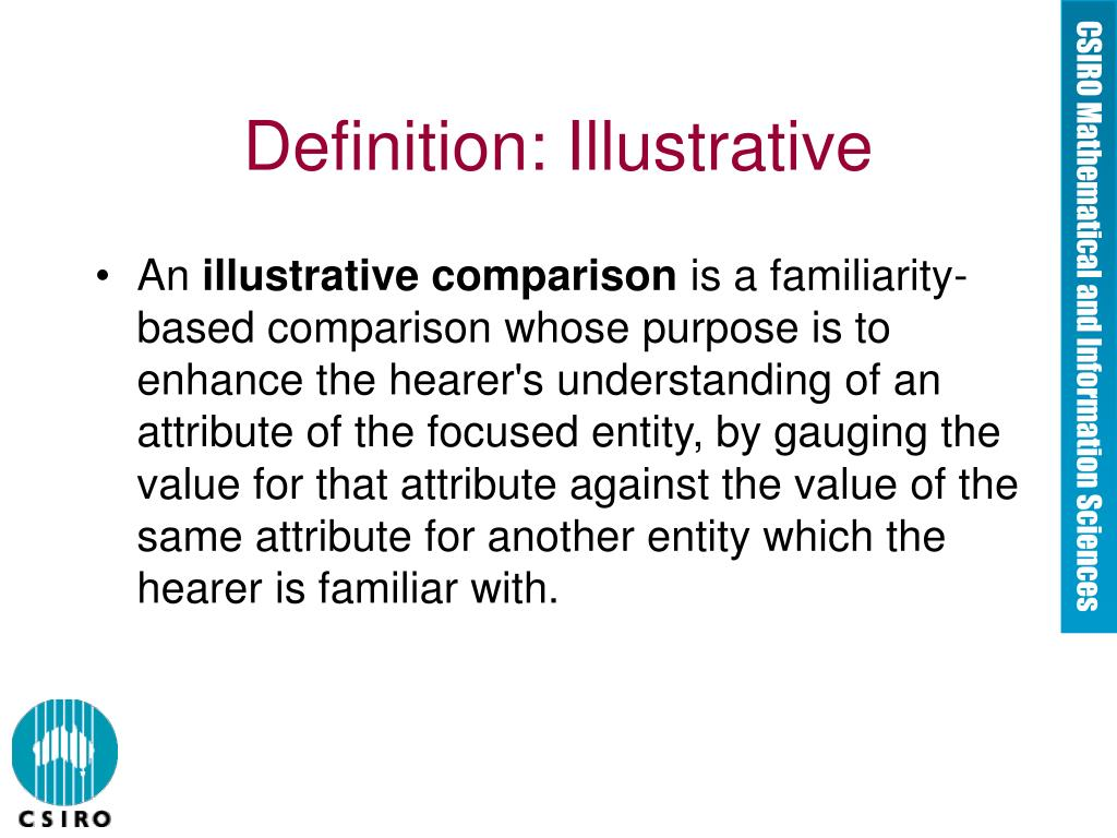 Definition: Illustrative