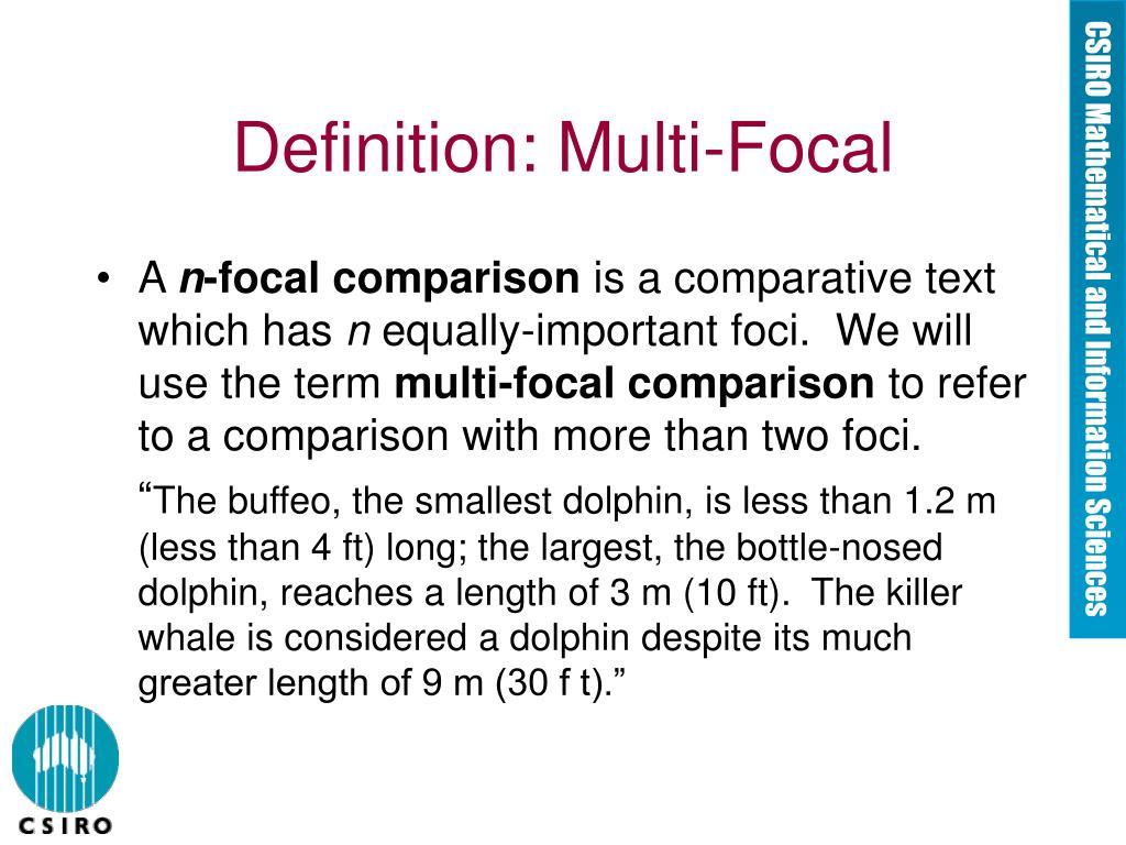 Definition: Multi-Focal
