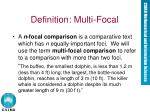 definition multi focal