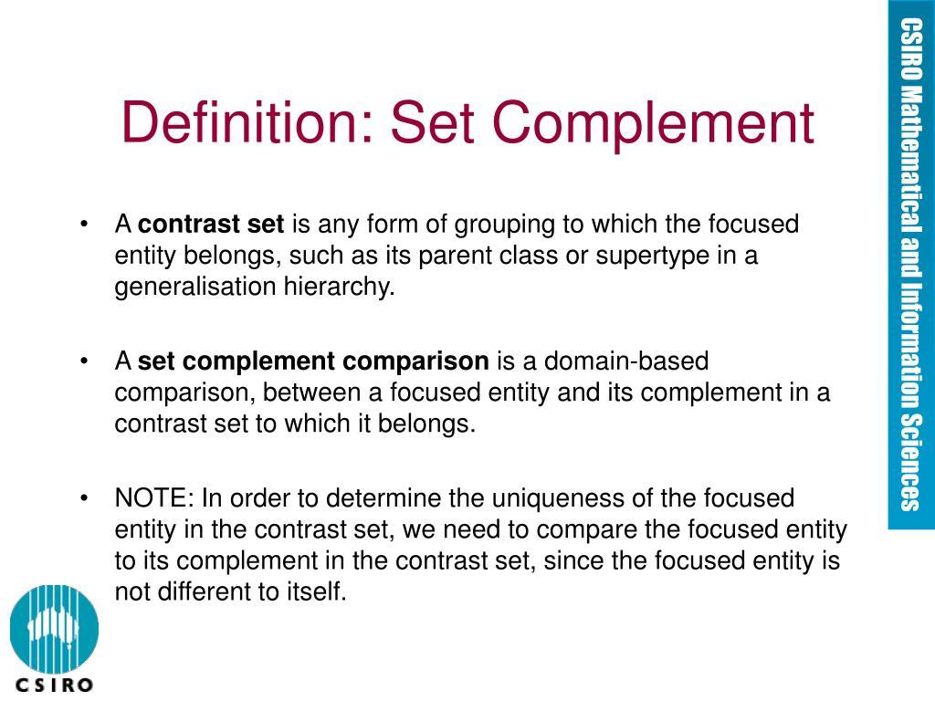 Definition: Set Complement