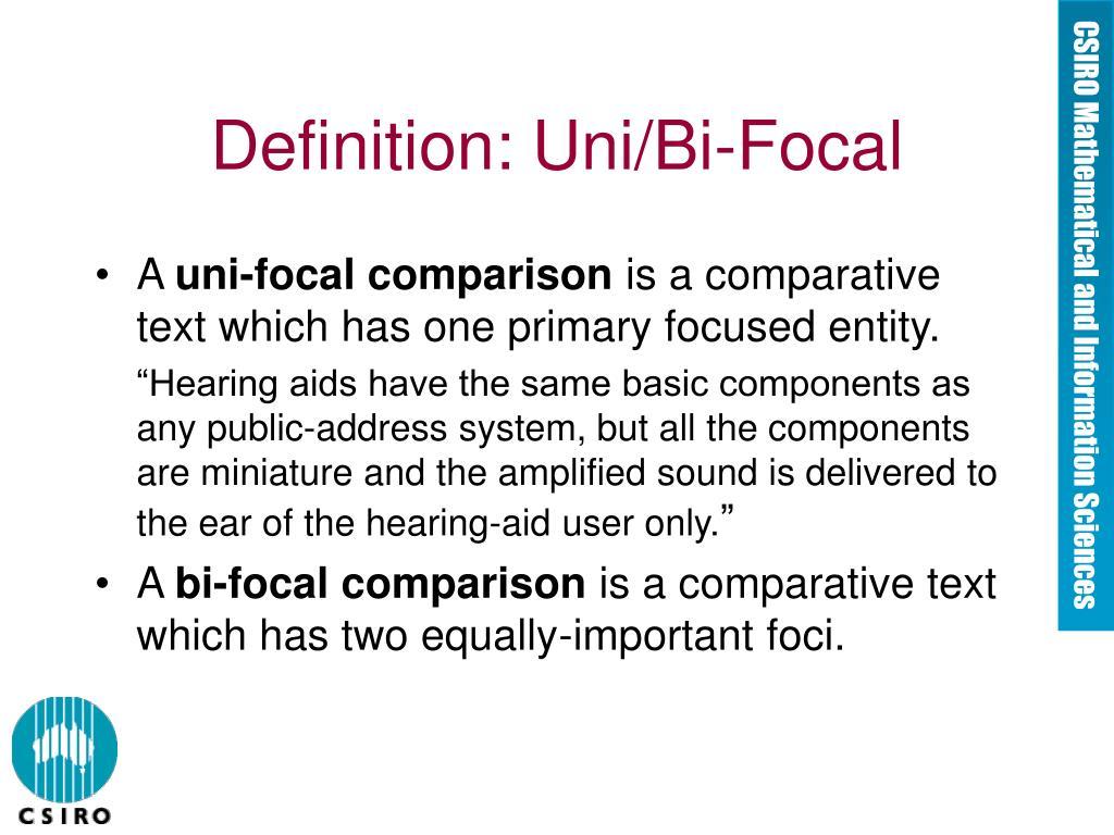 Definition: Uni/Bi-Focal