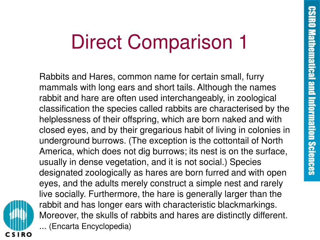 Direct Comparison 1