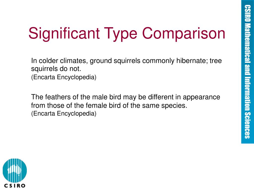 Significant Type Comparison