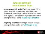 energy saving it from carbon trust