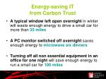 energy saving it from carbon trust1
