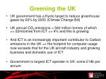 greening the uk