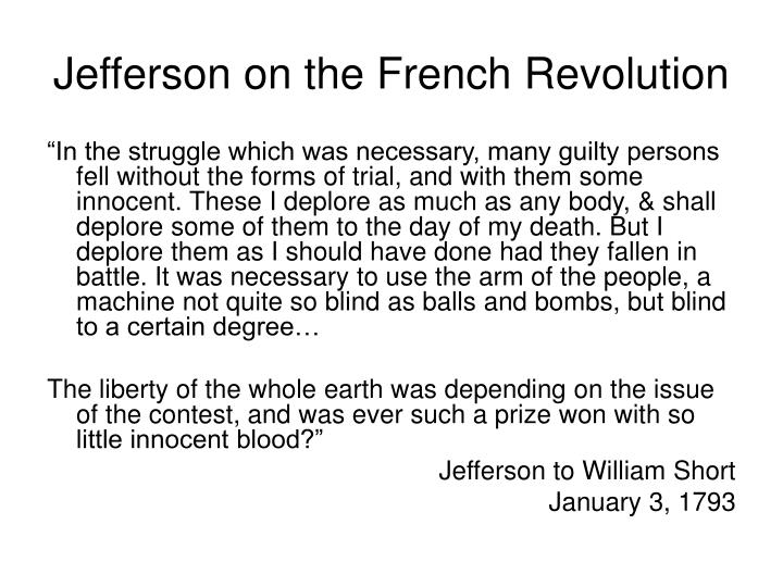 Jefferson on the French Revolution