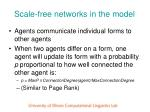 scale free networks in the model