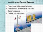 anti icing and de icing systems