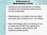 enforcement of medical safety criteria