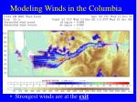 modeling winds in the columbia gorge