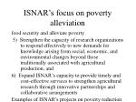 isnar s focus on poverty alleviation