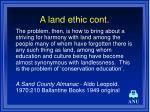 a land ethic cont