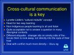 cross cultural communication is a key