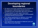 developing regional boundaries