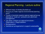 regional planning lecture outline