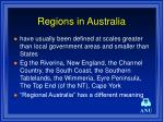 regions in australia