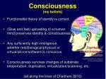 consciousness my beliefs
