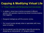 copying modifying virtual life
