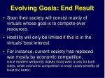 evolving goals end result