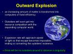 outward explosion