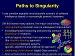 paths to singularity