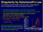 singularity by solomonoff s law