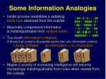 some information analogies