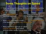 some thoughts on speed