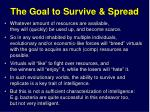 the goal to survive spread