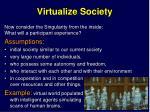 virtualize society