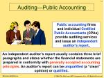 auditing public accounting