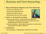 business and farm accounting