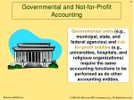 governmental and not for profit accounting