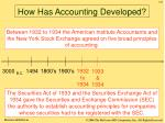 how has accounting developed4
