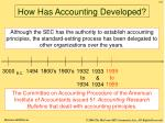 how has accounting developed5