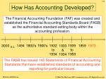 how has accounting developed7