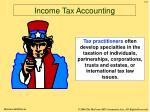 income tax accounting