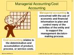 managerial accounting cost accounting