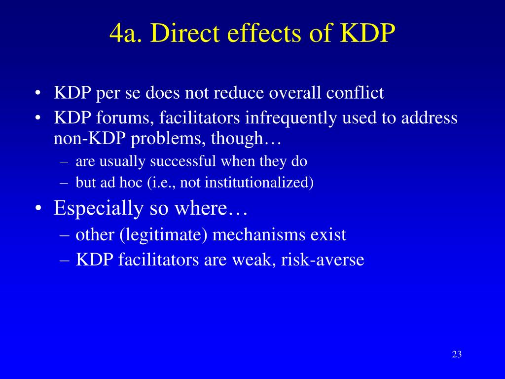 4a. Direct effects of KDP