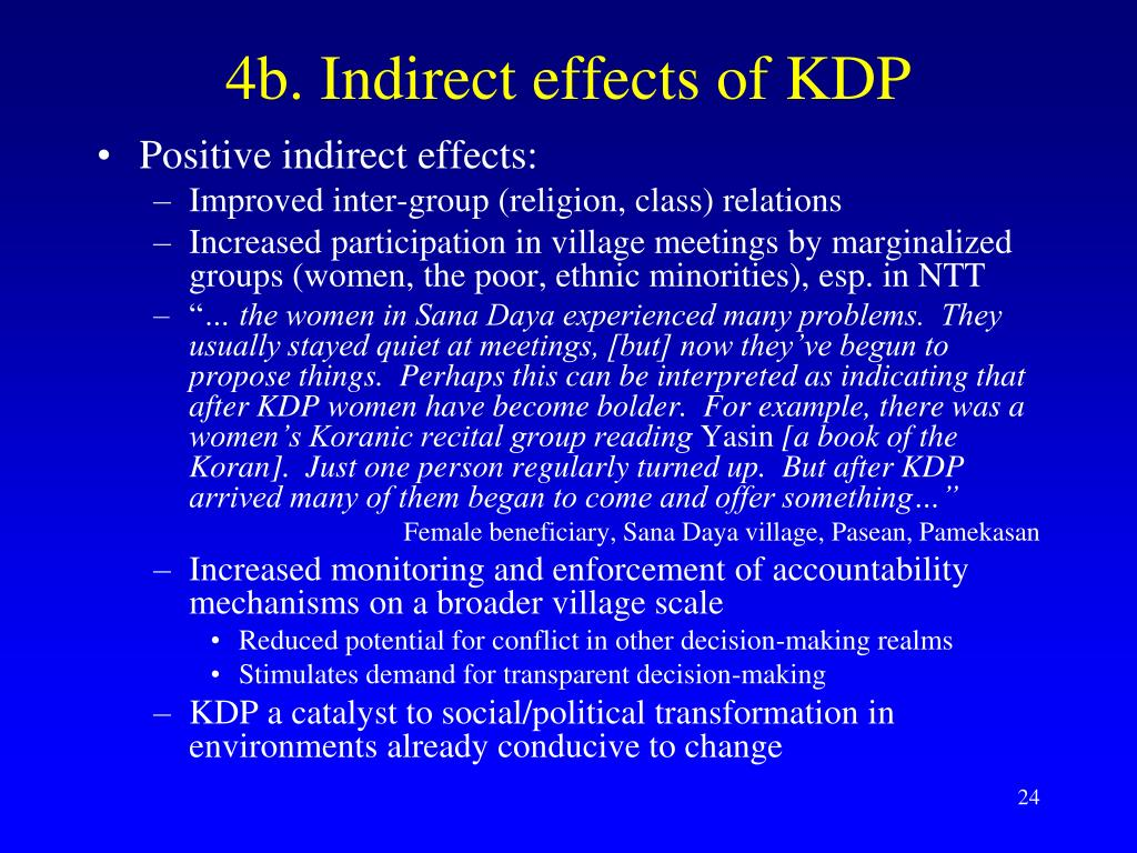 4b. Indirect effects of KDP