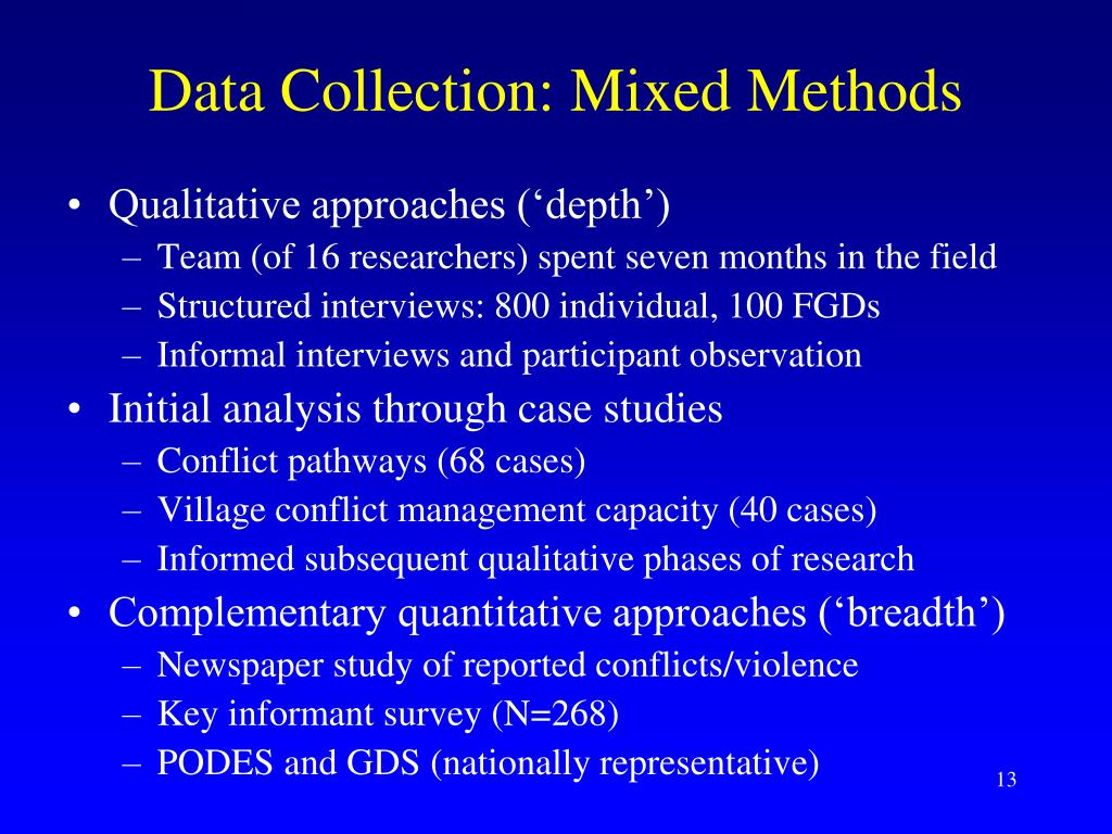 Data Collection: Mixed Methods