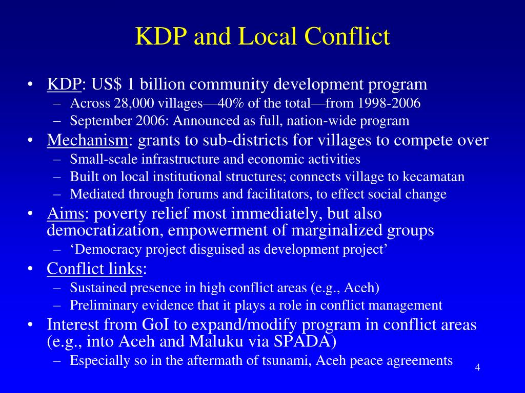 KDP and Local Conflict