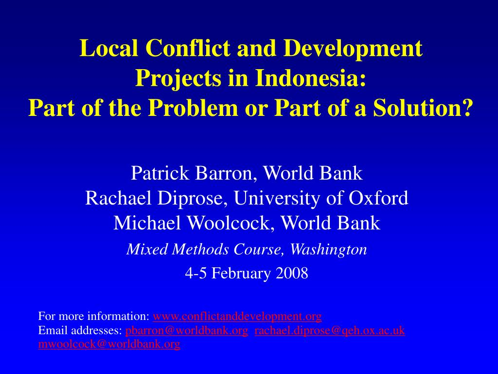 Local Conflict and Development