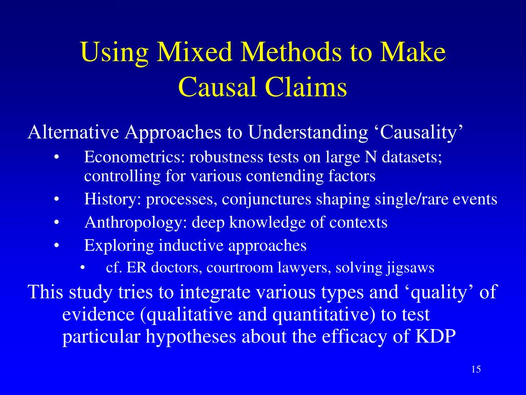 Using Mixed Methods to Make Causal Claims