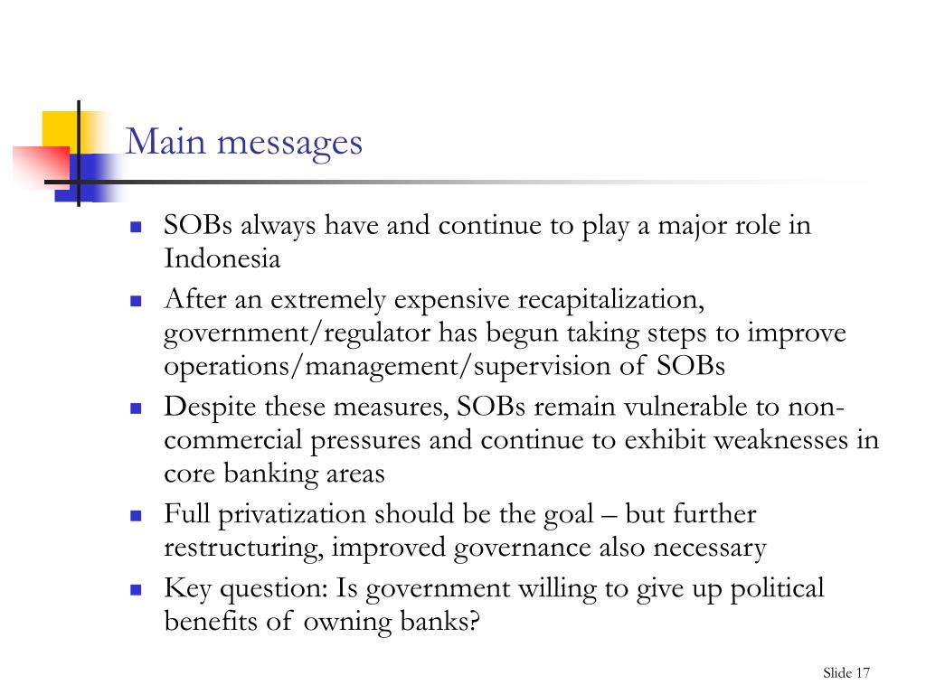 Main messages