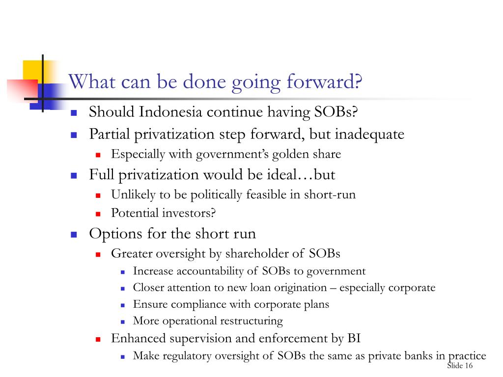 What can be done going forward?