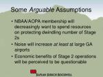 some arguable assumptions